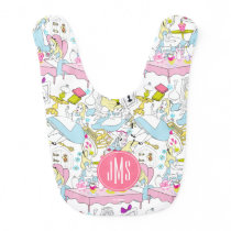 Alice in Wonderland | Monogram Oversized Pattern Baby Bib