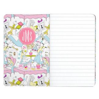Alice in Wonderland   Monogram Oversized Pattern Journal