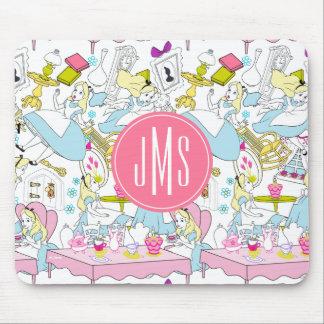 Alice in Wonderland | Monogram Oversized Pattern Mouse Pad