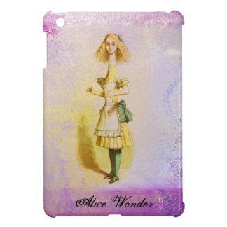 Alice in Wonderland Monogram Purple Vintage Pink iPad Mini Cases