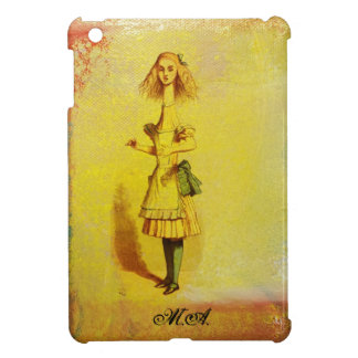 Alice in Wonderland Monogram Stretched Tall Grunge iPad Mini Cases