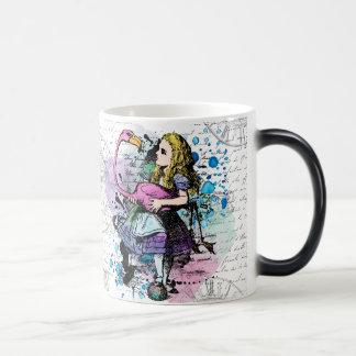 Alice in Wonderland morphing mug