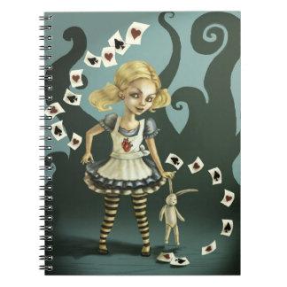 Alice in Wonderland Spiral Notebook