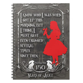 "Alice-In-Wonderland Notebook ""I Know Who I Was"""