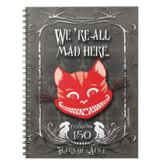 "Alice-In-Wonderland Notebook ""We're All Mad Here"""