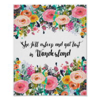 Alice in Wonderland, Nursery Quote Print, Poster