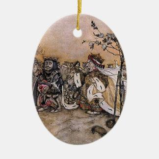 Alice in Wonderland Off WithTheir Heads Rackham Ceramic Ornament