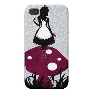Alice in Wonderland on Mushroom iPhone4 cover