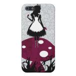 Alice in Wonderland on Mushroom iPhone4 cover iPhone 5 Cases
