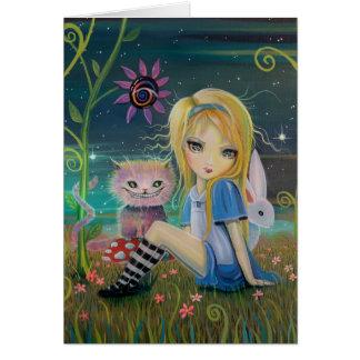 Alice in Wonderland Original Fantasy Fairytale Art Greeting Card