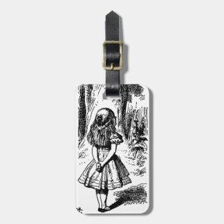 Alice in Wonderland - original illustration Bag Tag