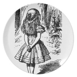 Alice in Wonderland - original illustration Melamine Plate