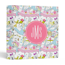 Alice in Wonderland | Oversized Pattern 3 Ring Binder