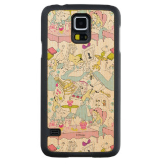 Alice in Wonderland | Oversized Pattern Carved Maple Galaxy S5 Slim Case