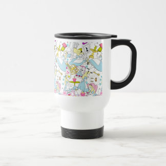 Alice in Wonderland | Oversized Pattern Travel Mug