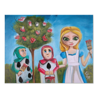 ALICE IN WONDERLAND PAINTING by Gordon Bruce 4.25x5.5 Paper Invitation Card