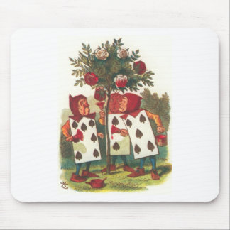 Alice in Wonderland - Painting the Roses Red! Mouse Pad