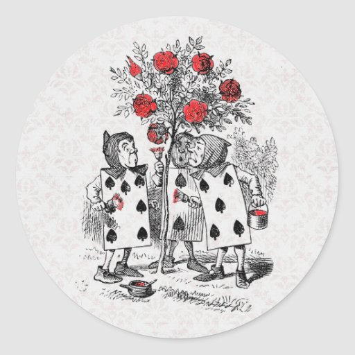 Alice in Wonderland Painting the Roses Red Sticker