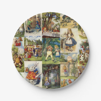 Alice in Wonderland Paper Plate 7 Inch Paper Plate