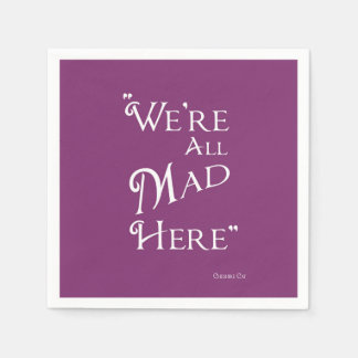 Alice in Wonderland Party Napkins - Mad