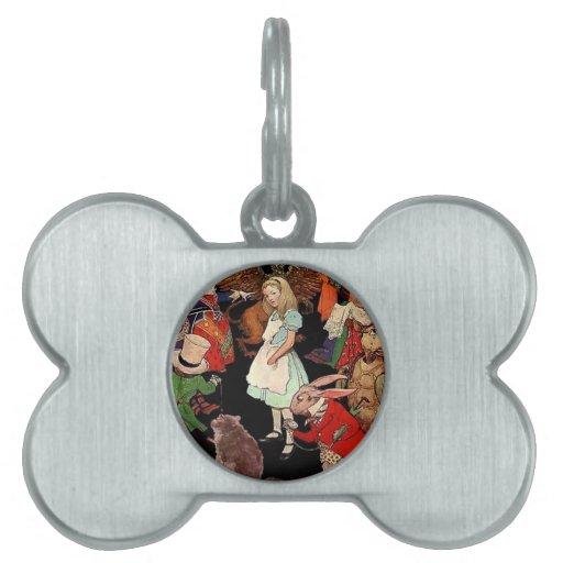 Alice in Wonderland Pet ID Tag