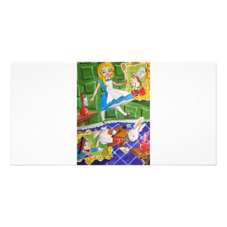 ALICE IN WONDERLAND PERSONALIZED PHOTO CARD