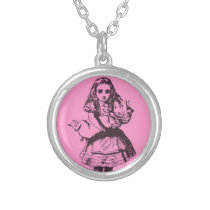 Alice in Wonderland Pig Necklace (Piggie Pink)