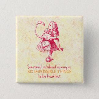 Alice in Wonderland Pinback Button