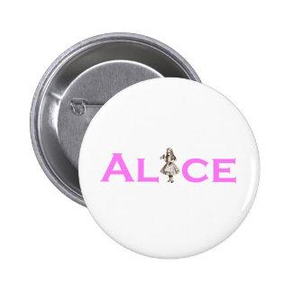 Alice In Wonderland Pink Pinback Buttons
