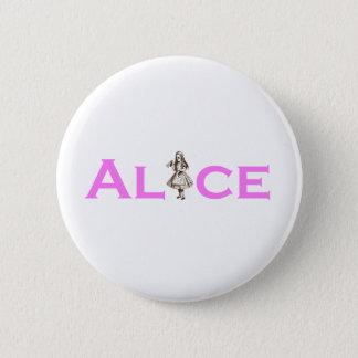 Alice In Wonderland Pink Pinback Button