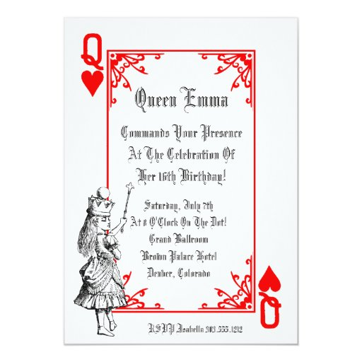 Alice In Wonderland Playing Card Party Invitation | Zazzle