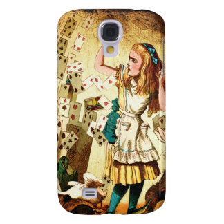 Alice in Wonderland Playing Cards Samsung Galaxy S4 Cover