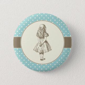Alice in Wonderland Polka Dots Button