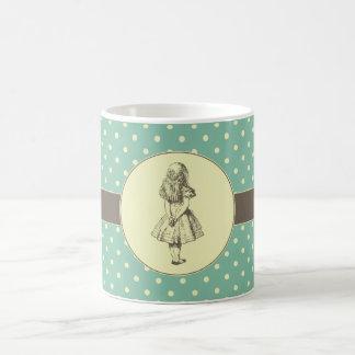Alice in Wonderland Polka Dots Coffee Mugs