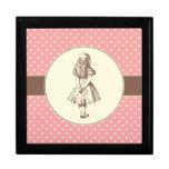 Alice in Wonderland Polka Dots Keepsake Box