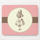 Alice in Wonderland Polka Dots Mouse Pad