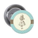 Alice in Wonderland Polka Dots Pinback Button