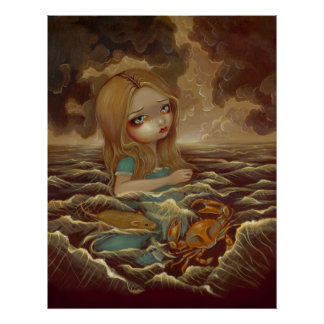 Alice in Wonderland - Pool of Tears Art Print
