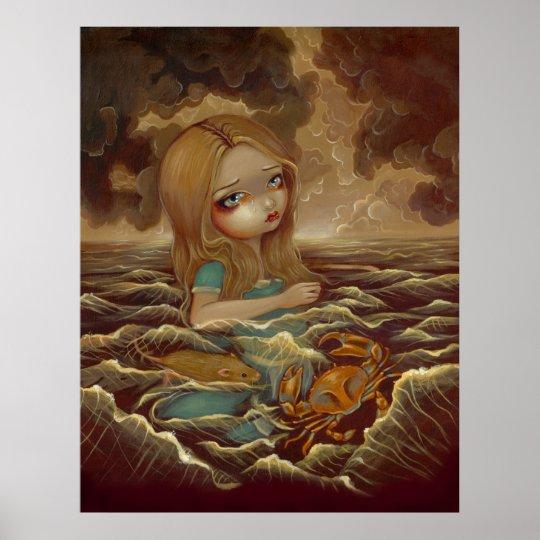 Alice in Wonderland - Pool of Tears Art Print