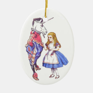 Alice in Wonderland porcelain tree ornament