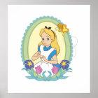 Alice in Wonderland Portrait Disney Poster