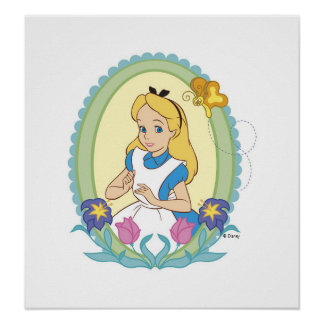 Alice in Wonderland Portrait Disney Poster