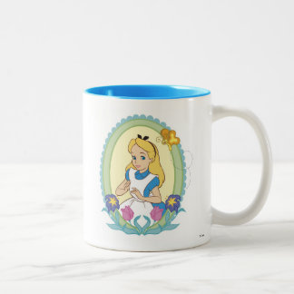 Alice in Wonderland Portrait Disney Two-Tone Coffee Mug