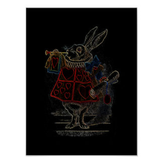 Alice in Wonderland Print Rabbit Pink Heart
