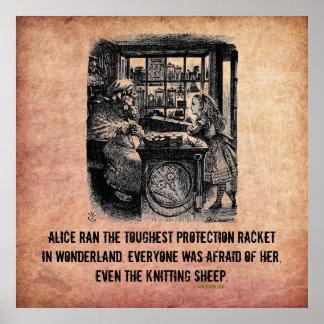 Alice (In Wonderland) Protection Racket Poster