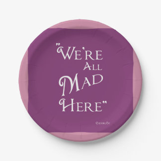 Alice in Wonderland - Purple Plates - Mad Hatter