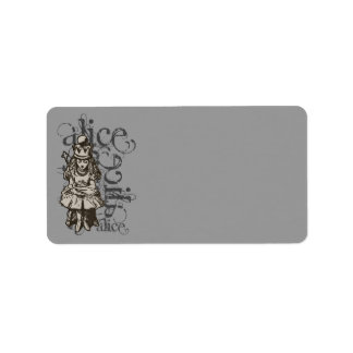 Alice In Wonderland Queen Alice Grunge Label