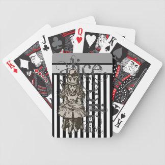 Alice In Wonderland Queen Alice Grunge Deck Of Cards