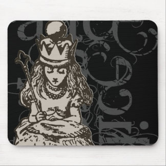 Alice In Wonderland Queen Alice Grunge (Single) Mouse Pad