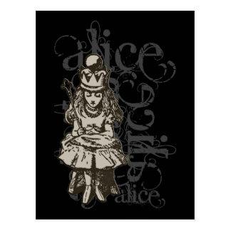 Alice In Wonderland Queen Alice Grunge (Single) Postcard
